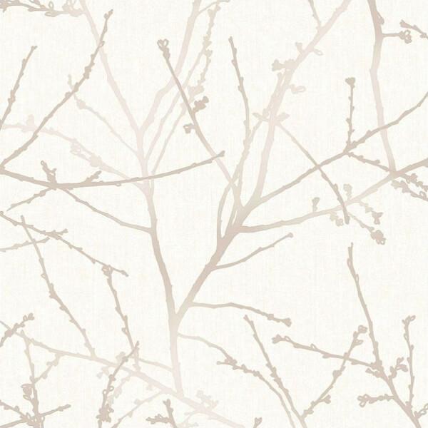 Superfresco Easy Paste the Wall Innocence Wallpaper - Stone Cream