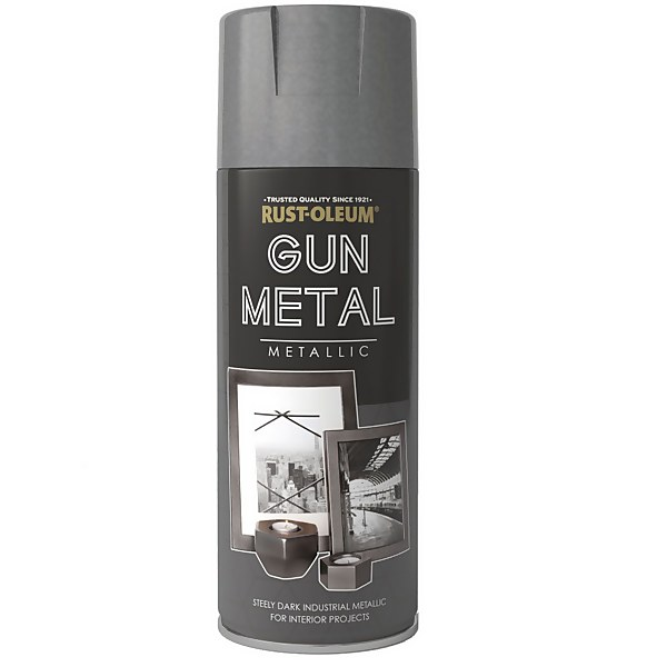 Rust-Oleum Gun Metal Metallic Spray Paint - 400ml