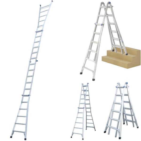 Werner Multi-Purpose Telescopic Combination Ladder - 4x6