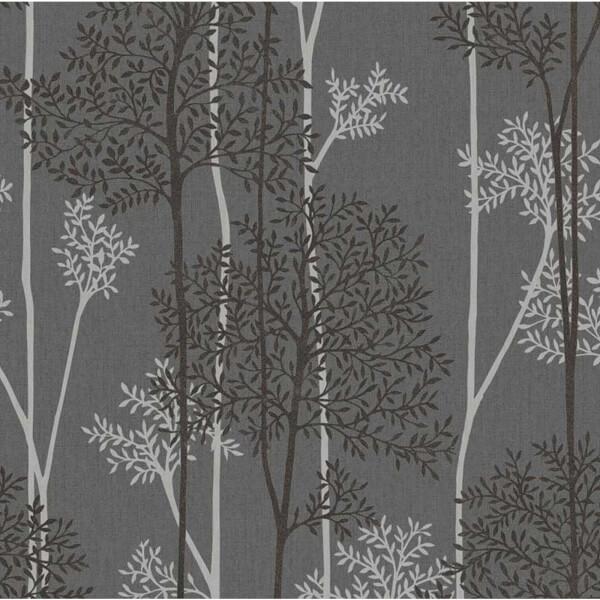 Superfresco Easy Paste the Wall Innocence Eternal Charcoal Wallpaper