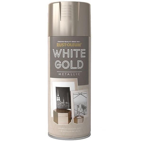 Rust-Oleum Metallic Spray Paint White Gold - 400ml