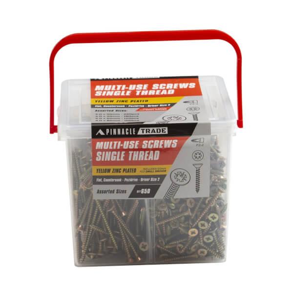 Pinnacle Assorted Screws - Pack of 650