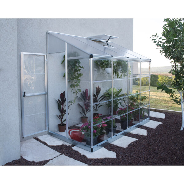 Palram Lean To 8x4 Silver Grow House