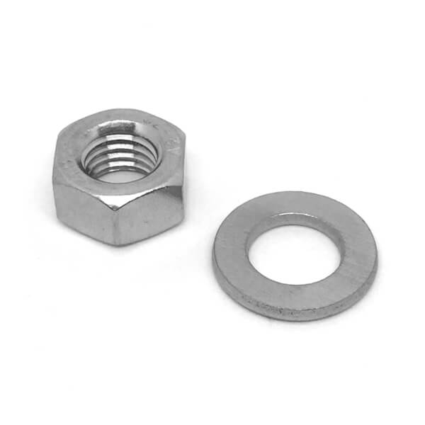 Griptite Hex Nut & Washer SS M6 - 5 Pack