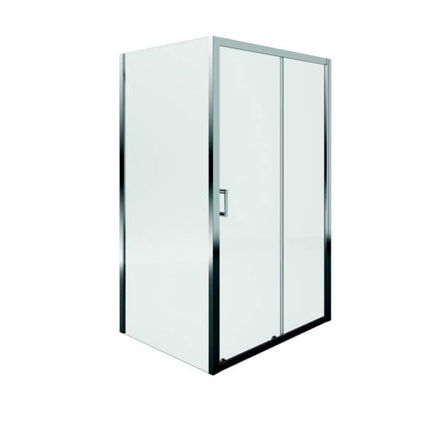 Aqualux Sliding Door Shower Enclosure - 1400 x 800mm