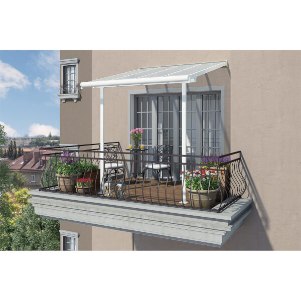 Palram Sierra 2.3 x 2.3m Patio Awning - White