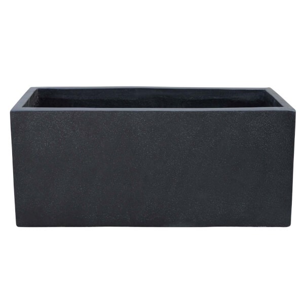 Plaza Garden Plant Trough - Black / 35cm