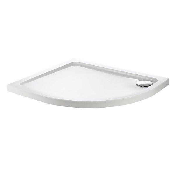 Aqualux Offset Quadrant RH Shower Tray - 1000 x 800 x 45mm