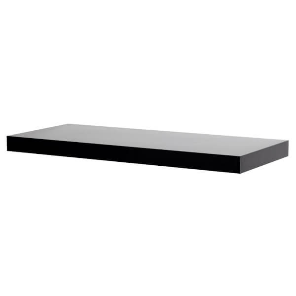 Floating Shelf - Black Gloss - 600 x 240 x 38mm