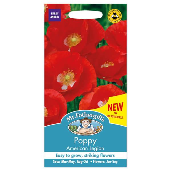 Mr. Fothergill's Poppy American Legion Seeds