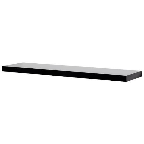 Floating Shelf - Black Gloss - 900 x 240 x 38mm