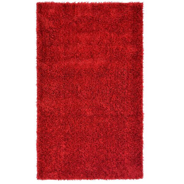 Deco Shaggy Red Rug - 160x230cm