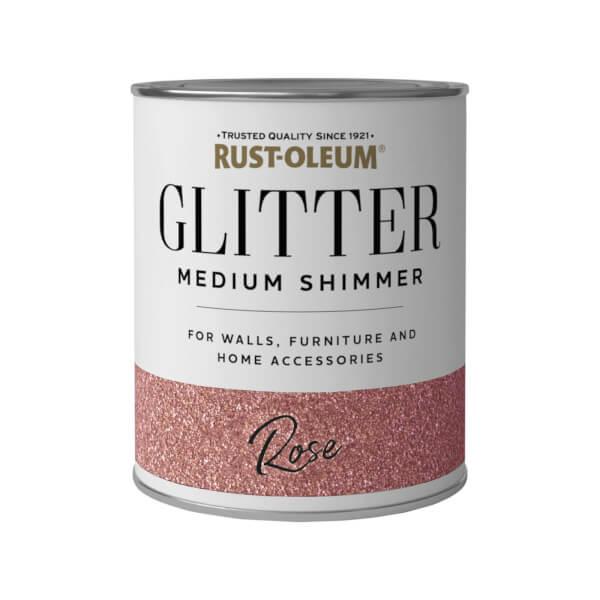 Rust-Oleum Medium Shimmer Rose Glitter - 250ml