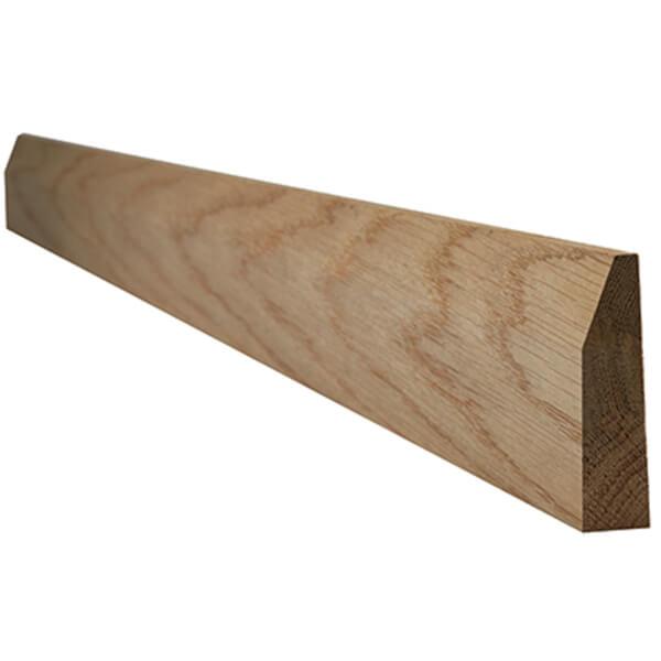 Chamfered Internal Unfinished Oak Architrave - 70 x 2200mm