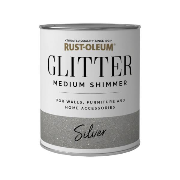 Rust-Oleum Medium Shimmer Silver Glitter - 750ml