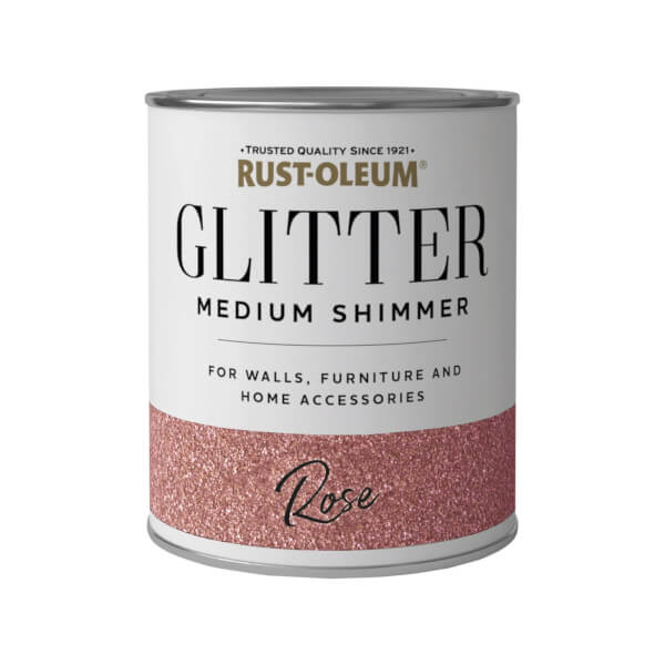 Rust-Oleum Medium Shimmer Rose Glitter - 750ml