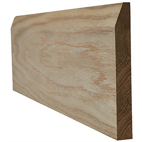 Chamfered Internal Unfinished Oak Skirting - 95 x 3000mm