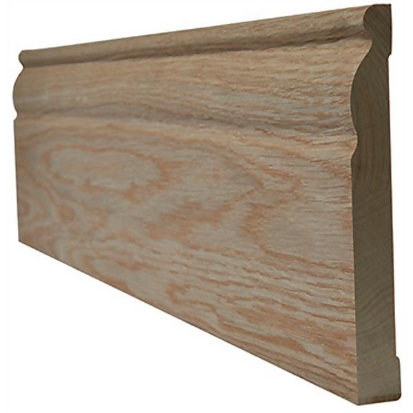 Ogee Internal Unfinished Oak Skirting - 95 x 3000mm