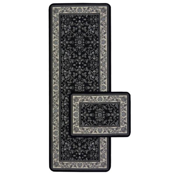 Traditional Runner Pack Black Rug - 57 x 230cm