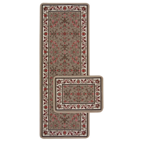 Traditional Runner Pack Taupe Rug - 57 x 150cm