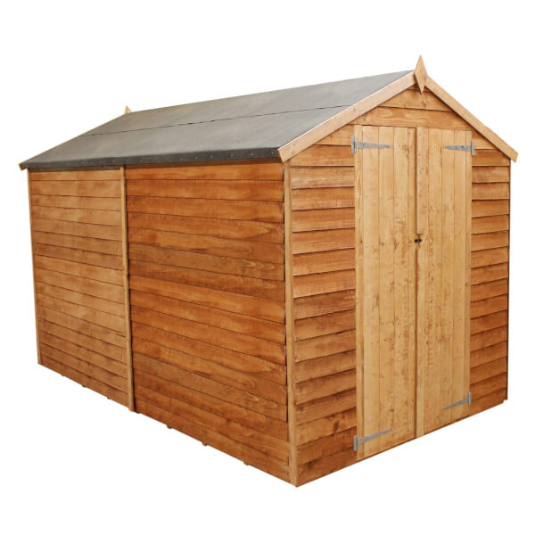Mercia 10x6ft Overlap Apex Windowless Shed