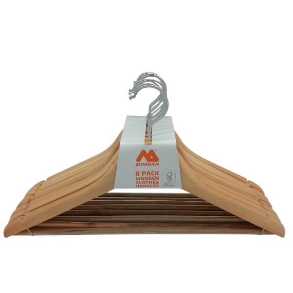 Wooden Clothes Hangers - 8 pack