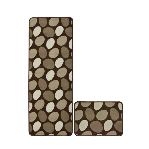 Stepping Stones Chocolate Rug - 57 x 230cm