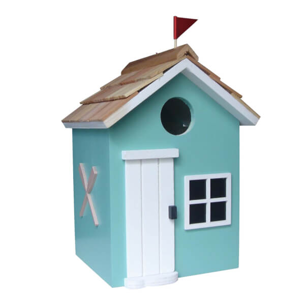 Bayside Beach Hut Bird House Turquoise