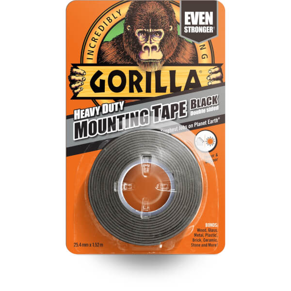 Gorilla Heavy Duty Mounting Tape Black - 1.5m
