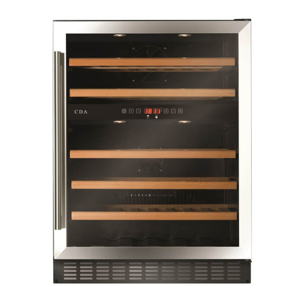 CDA FWC604SS 60cm Wide Multi Temperature Wine Cooler