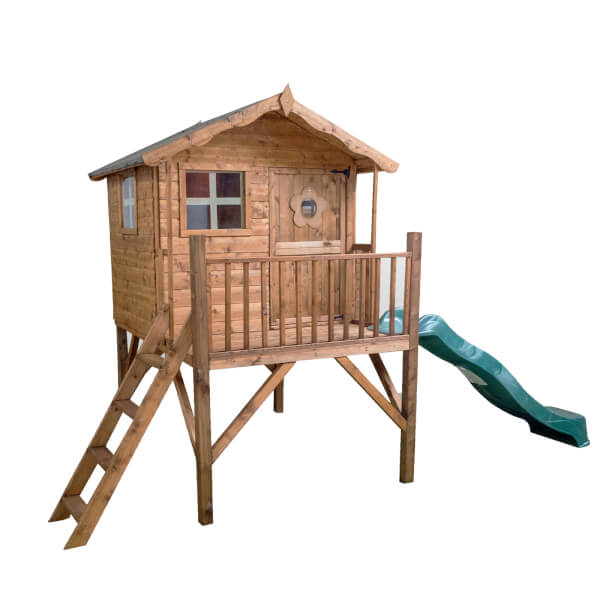 Mercia Tulip Playhouse with Tower and Slide (Installation Included)