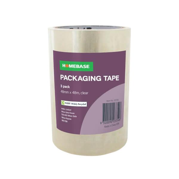 Homebase Packaging Tape 3 pack - Clear