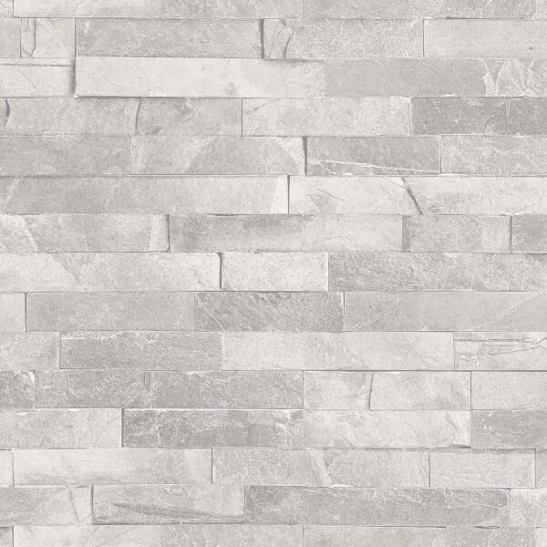 Arthouse Diamond Slate Brick Textured Glitter Dove Grey Wallpaper