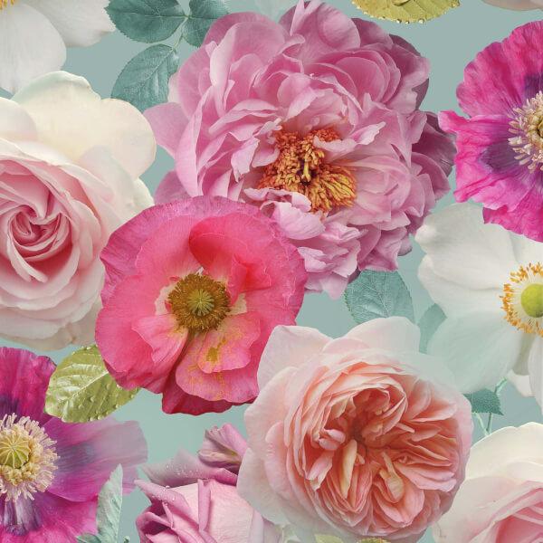 Arthouse Country Garden Floral Smooth Multi Coloured Wallpaper