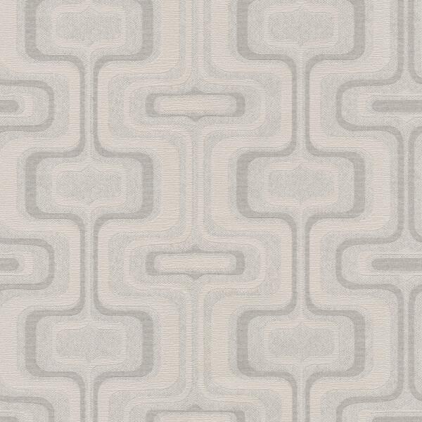 Belgravia Decor San Remo Geometric Embossed Metallic Smoke Grey Wallpaper