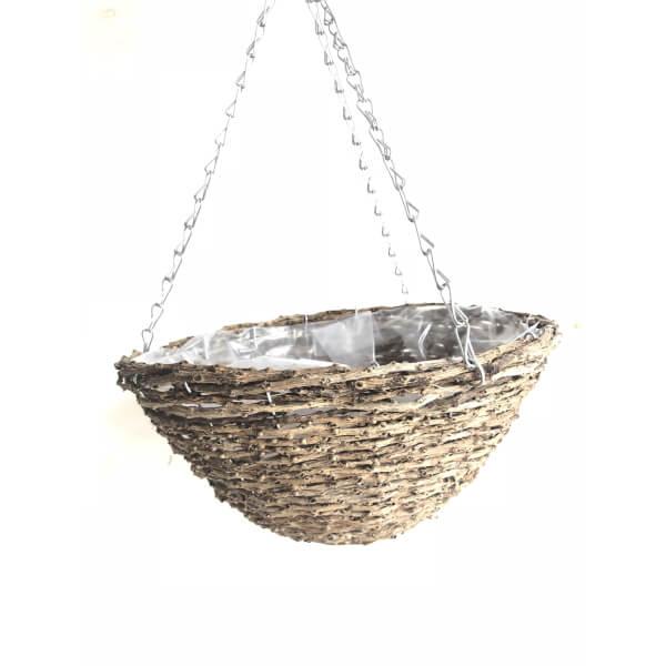 Hanging Basket Rattan 30cm