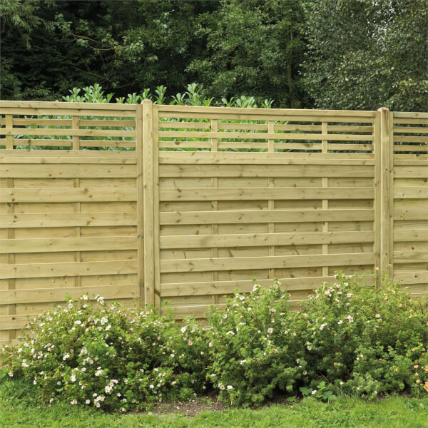 Forest Kyoto Fence Panel - 6ft - Pack of 3