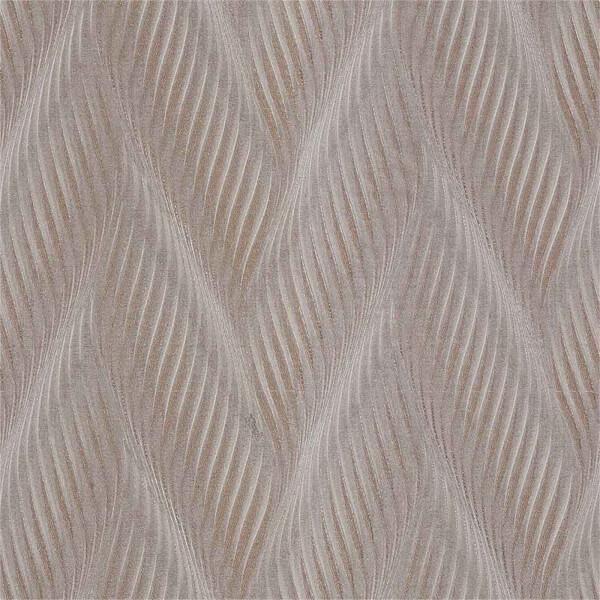 Belgravia Decor Coca Cola Geometric Embossed Metallic Wave Taupe Wallpaper