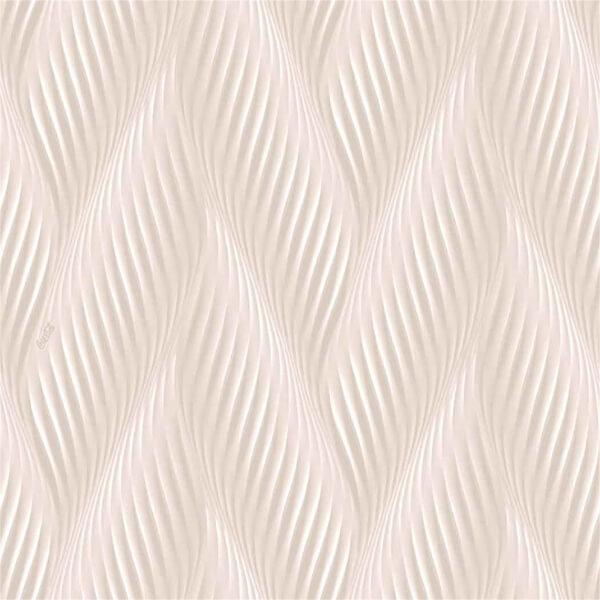 Belgravia Decor Coca Cola Geometric Embossed Metallic Wave Light Pink Wallpaper