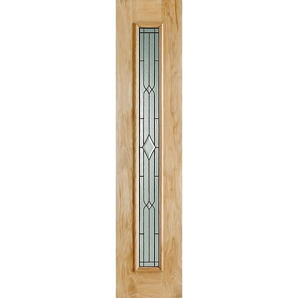 Leaded External Glazed Unfinished Oak 1 Lite Sidelight 457 x 2057mm