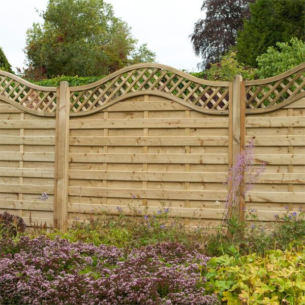 Forest Prague Fence Panel - 6ft - Pack of 4