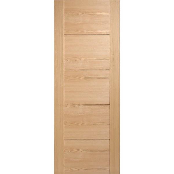 Vancouver Internal Prefinished Oak 5 Panel Fire Door - 838 x 1981mm