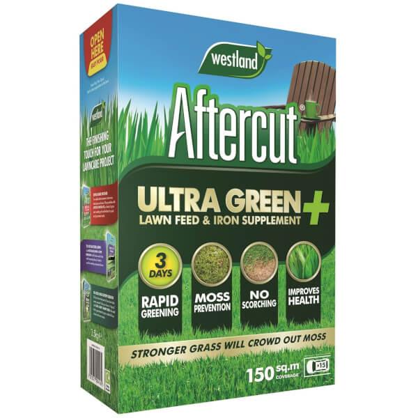 Aftercut Ultra Green + Lawn Feed & Iron Supplement - 150m2