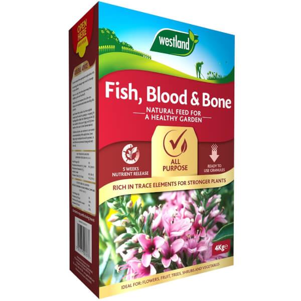 Westland Fish, Blood and Bone All Purpose Plant Food - 4kg