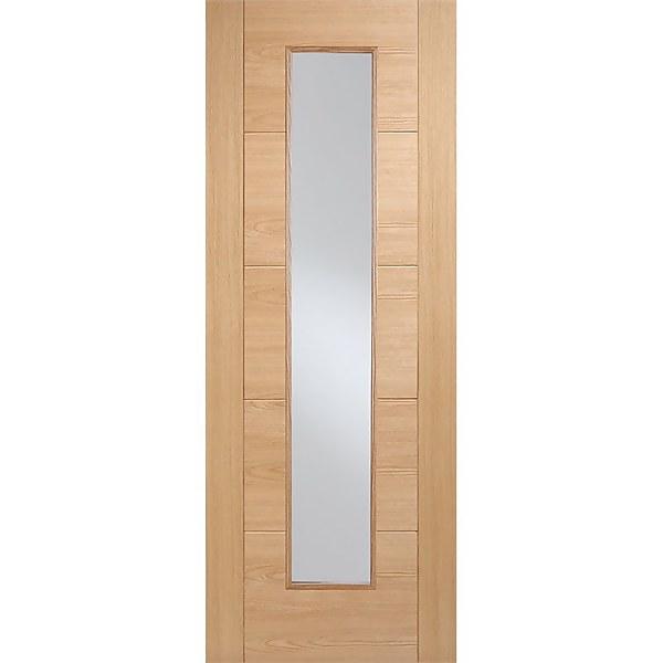 Vancouver Long Light Internal Prefinished Oak 1 Lite Fire Door - 762 x 1981mm