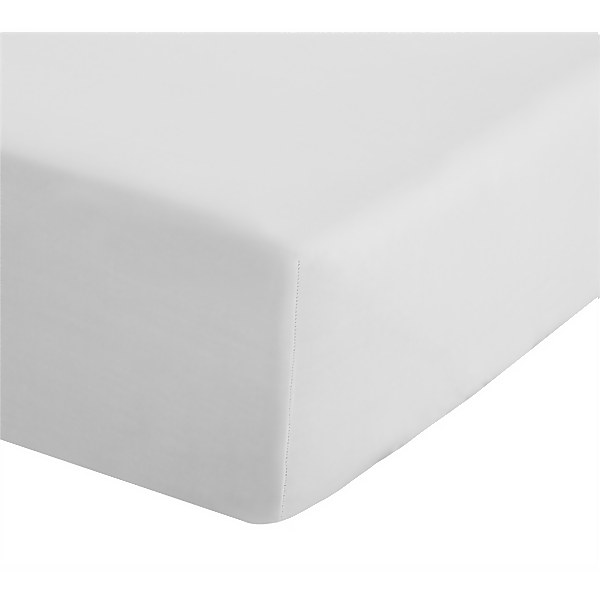 Catherine Lansfield Easy Iron Percale Single Fitted Sheet - White