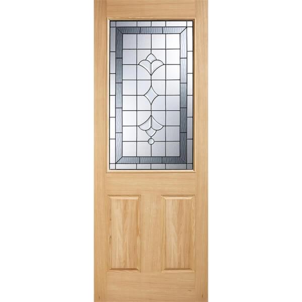 Winchester External Glazed Unfinished Oak 1 Lite Part L Compliant Door - 813 x 2032mm