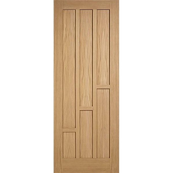Coventry Internal Prefinished Oak 6 Panel Fire Door - 838 x 1981mm