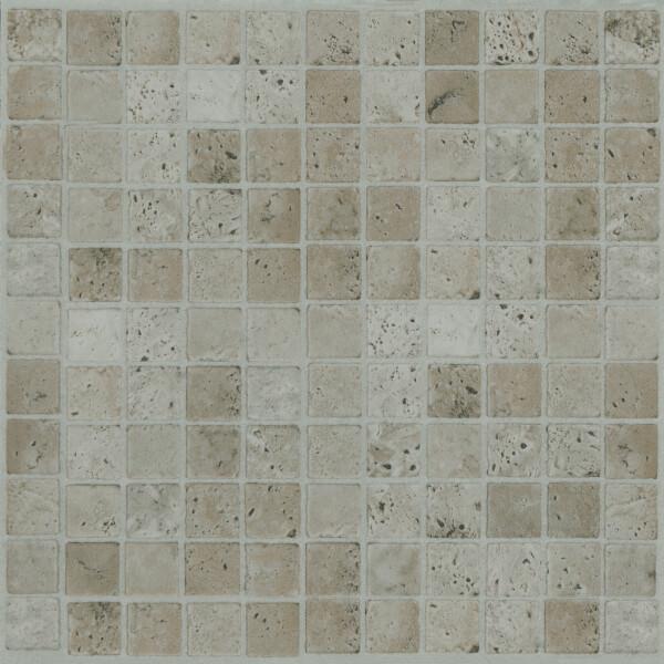 Cream Mosaic Vinyl Floor Tiles