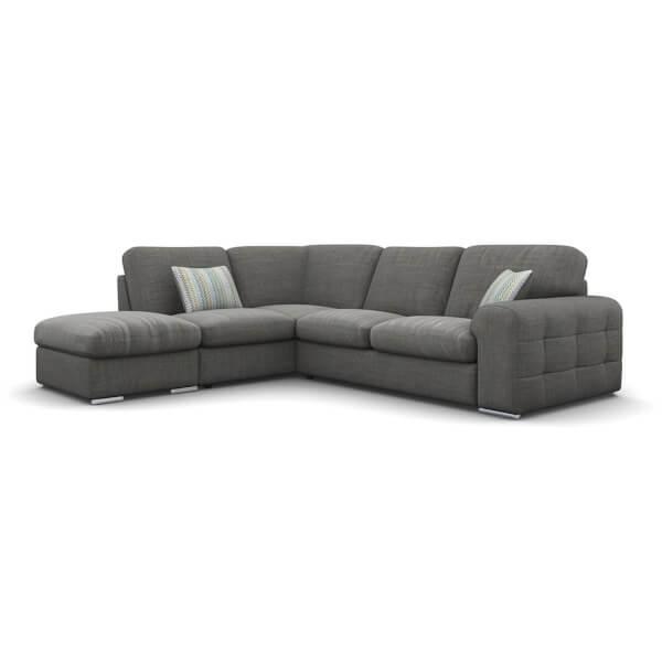 Amethyst Lefthand Corner Sofa - Slate